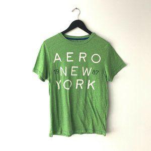 Aeropostale New York Graphic Tee Shirt Green M